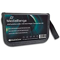 MediaRange astuccio borsa porta FlashDrive Wallet per 6 pennine USB