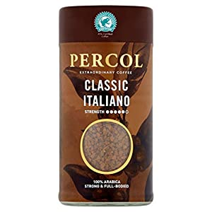 PERCOL Rainforest Alliance Classic Italiano Freeze Dried Instant Coffee 100g
