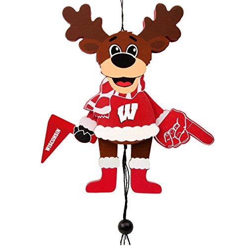 Forever Collectibles Wisconsin Badgers Offiziellen NCAA Urlaub Weihnachten Ornament Jubelnde Rentier 498896