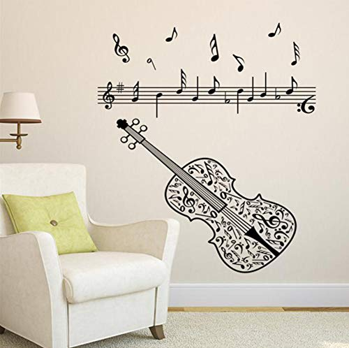 ische Musik Noten Akkorde Rock Wandtattoos Für Kind Schlafzimmer Wohnkultur Peel And Stick 80X50 Cm ()
