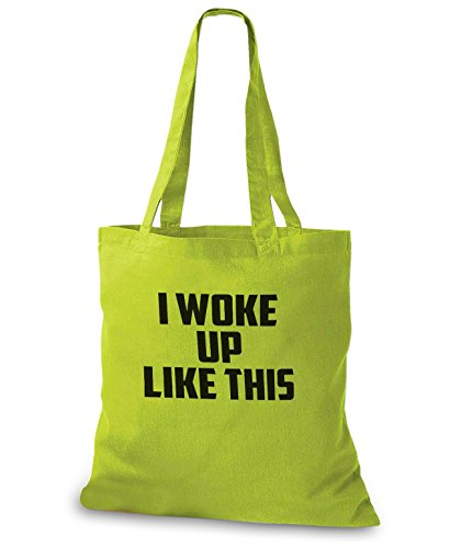 StyloBags Jutebeutel / Tasche I woke up like this Kiwi