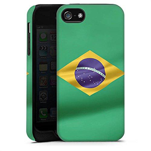 Apple iPhone X Silikon Hülle Case Schutzhülle Brasilien Flagge Brasil Tough Case matt