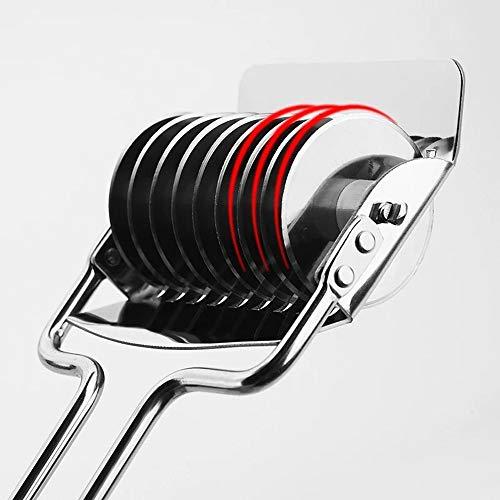 YZH Edelstahl-Haushalts-manuelle Pressmaschine Handgekurbelte Multi-Messer-Nudelmaschine Multifunktionsnudelholz-Schneidemaschine