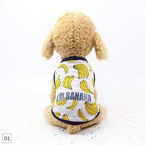Banana Kleid Kostüm - Teabelle Hundekleid, Cartoon-Motiv, für Paare, Gr. XS, Banana Vest, XS