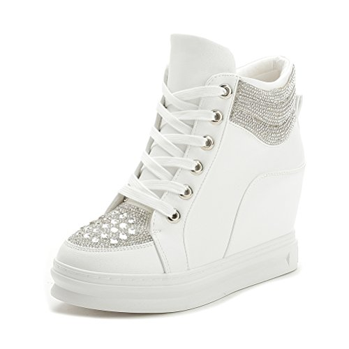 ohne Markenname Sportliche Damen Sneaker-Wedges Sneakers Strass Keilabsatz