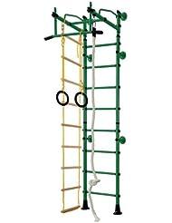 Equipamiento Deportivo De Acero Inoxidable Barras De Pared Ajuste Superior M2 - verde, para espacios 200-250 cm
