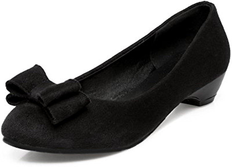 balamasa filles talons trapus à l'or imité pompes en en en daim bowknot décolleté dessus des chaussures b06xr28tz5 p ar ent 205a14