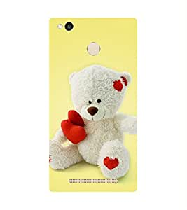 Teddy Printed Back Cover for Redmi 3s prime