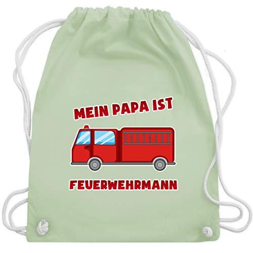 Feuerwehr Kind - Mein Papa ist Feuerwehrmann - Unisize - Pastell Grün - WM110 - Turnbeutel & Gym Bag