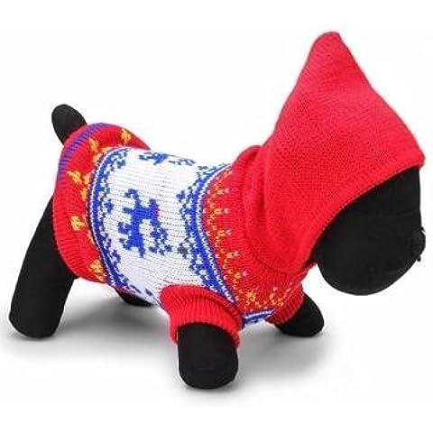 cane cervi pet maglia traspirante inverno maglione outwear blu rosso