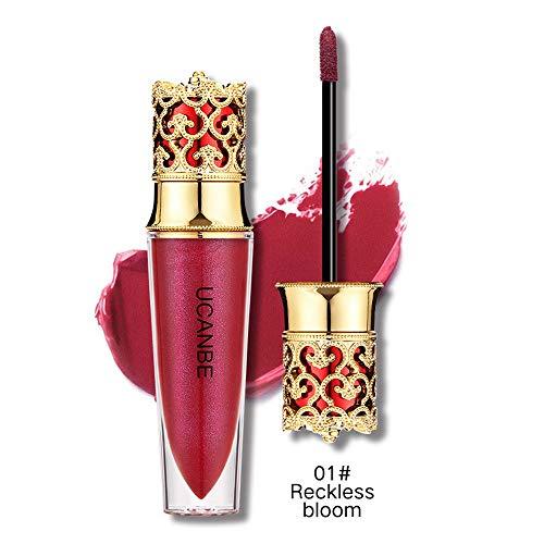 Huihong UCANBE 6 Schattierungen Flüssigkeit Lippenstift Feuchtigkeitscreme wasserdicht lang anhaltende Make up kosmetische Lippenstift Krone Farbe, um Ihre Lippen sexy