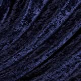Pannesamt Stoff Meterware Nachtblau