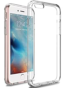 iPhone 6s Plus Case, LK [Crystal Clear] [Air Hybrid] Shock Absorbing Anti Scratch Ultra Slim Bumper Case with Clear Back Panel Cover for iPhone 6s Plus / iPhone 6 Plus (Clear)