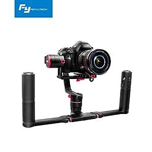 Feiyu Tech a1000 - Kit estabilizador Dual Hand para Cámaras Reflex (DSLR), gimbal de 3 ejes, hasta 1kg, color negro