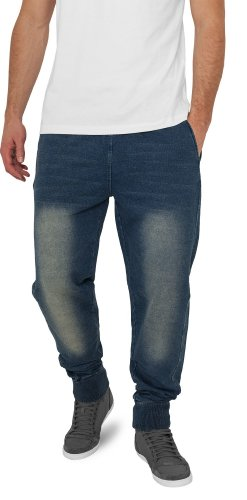 Urban Classics TB483 Denim Sweatpant Pantalone Tuta effetto Jeans Regular