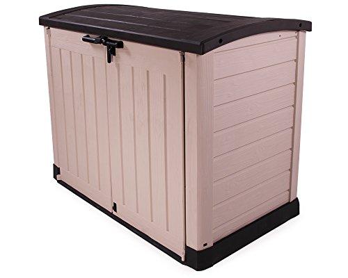 Keter Gerätebox für Garten Mülltonnenbox Store It Out Arc beige braun - 4