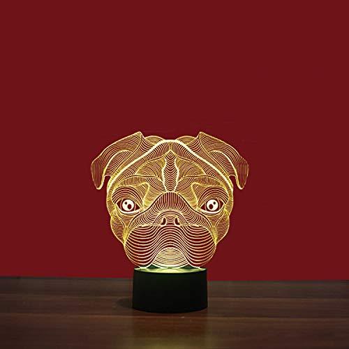 Saphir-tisch (3D Illusion Lampe LED Nachtlicht 7 Farben Saphir Touch Blinken Tisch lampen Acryl Platte& ABS Base Kinder Schlafzimmer Geburtstag Geschenke)