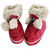 FERETI Stivaletti di Casa Scarpe Stivaletti Donna Pantofole Peluche Pompon  Gomma Antiscivolo Suole (39  b01ee7c94ee
