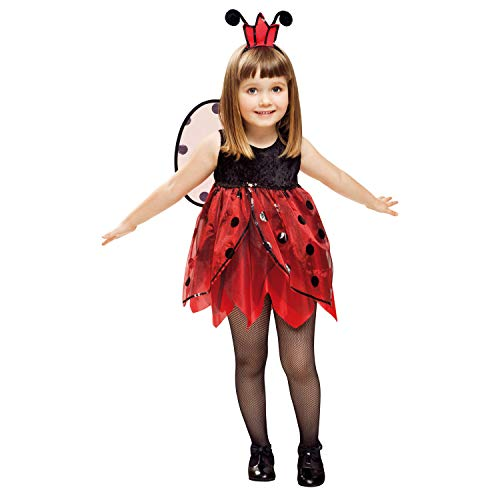 My Other Me-Marienkäfer Kostüm Fee, Größe 1-2Jahre (viving Costumes mom01312) 3-4 años einfarbig