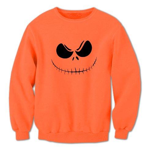 nisex-Erwachsene Halloween Kürbisgesicht 3 Sweatshirt Größe XXL Orange ()