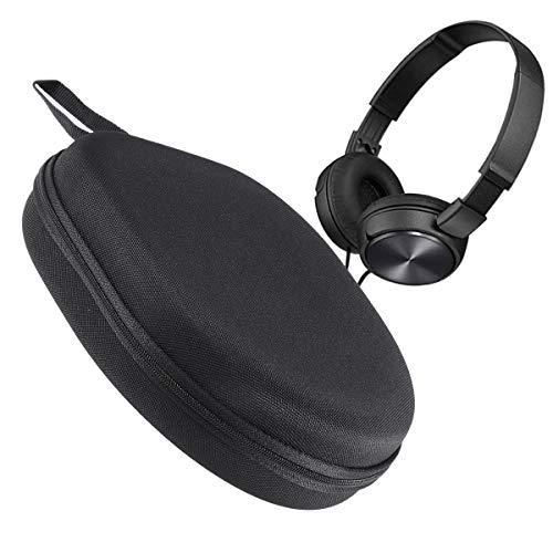 LEORX Portable Kopfhörer Tasche Etui Cover Box für Sony MDR-ZX100 ZX110 ZX300 ZX310 ZX600 Kopfhörer (schwarz) - 5