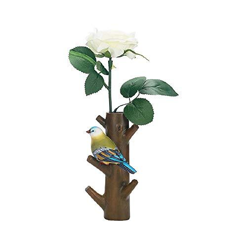 Leeq 1pc elegante resina tronco ganci a muro uccello hanger craft holder for cafe home decor brown pleasure(brown pleasure)
