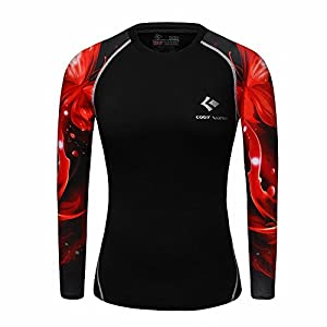 41ul8GEJfxL. SS300  - WCTL27 Women Ladies Compression Shirt Top Baselayer Tight Skin Long Sleeve for Fitness Outdoor Yoga