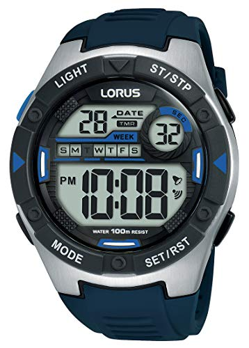 Lorus Men's Digital Quartz Watch with Silicone Strap R2395MX9 Best Price and Cheapest