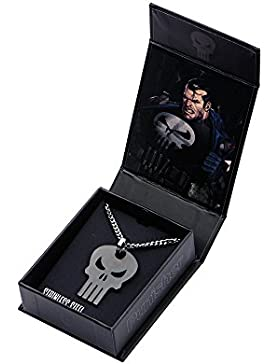 Marvel Comics The Punisher Skull Logo Stainless Steel Dog Tag Necklace