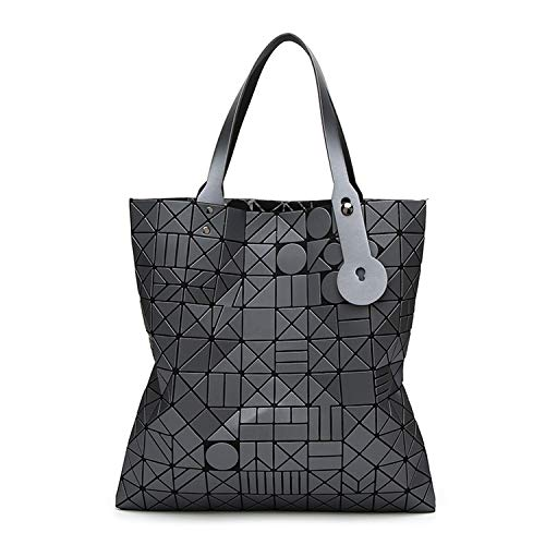 enlOWJ Tote geometric Quilted shoulder bags for women handbags women bags,gray