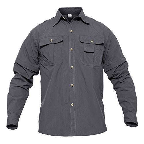 41ul9V8j6kL. SS500  - MAGCOMSEN Quick Dry Breathable Convertible Men's Long Sleeve Shirt for Hiking Work Military