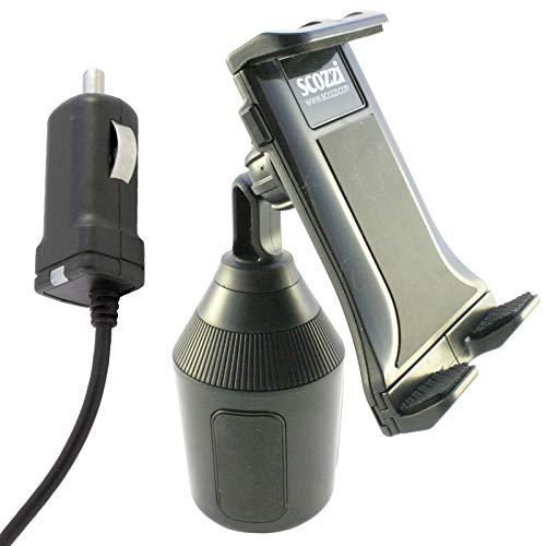 scozzi universal KFZ Handy & Tablet Halterung für Getränkehalter + USB TYP C Schnell Ladekabel mit 2400mAh, Auto Halter Handyhalter Handyhalterung Ladegerät Autohalter Getränke Dosen Dosenhalterung (Halter Halterung Für Cup Tablet)