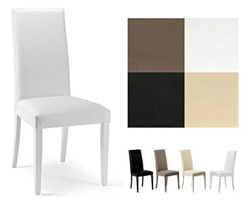 Sedie Sala Da Pranzo Ecopelle : Zstyle sedia nancy in ecopelle similpelle e legno cucina sala da