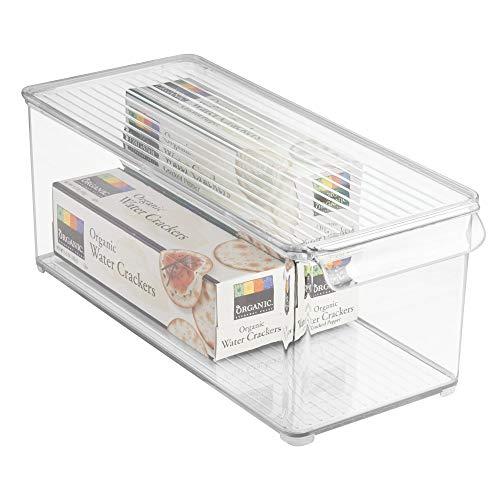 iDesign Fridge/Freeze Binz Kühlschrankbox mit Deckel, durchsichtig, kunststoff - Binz Kühlschrank