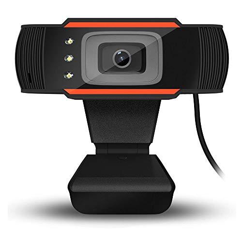 HENGKANG Webcam 1080P Full HD con Microfono Stereo, Telecamera PC per Video Chat e Registrazione, Compatibile con Windows, Mac e Android, Nero