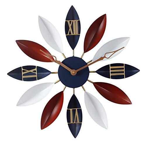 PLdegzcp Orologio da Parete Moderno Design Minimalista Creativo Orologio da Parete Facile da Leggere L'Arte Muto Ufficio Scuola Casa per Bambini Soggiorno Retro Continental