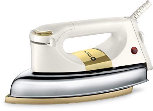 Orient Electric Kratos DIKR10IH 1000-Watt Heavy Dry Iron (Ivory)