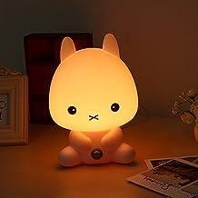 Lámpara de mesa. Lámpara de noche. Iluminación nocturna para niños, bebés, estudiantes. Decoración para casa y dormitorio, conejo, E11