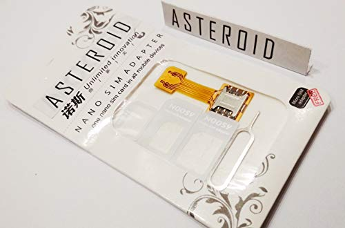 Asteroid Hybrid SIM Slot Adapter. Avails You to Run 2 SIM and Micro SD Card, All at A Time.[Nano to Nano] Sim Slot for All Hybrid Sim Phone