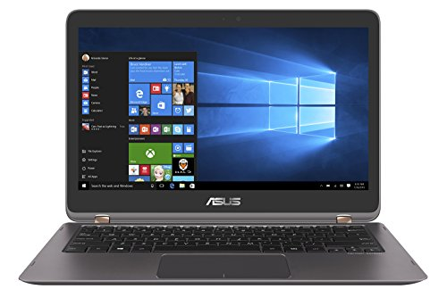 Asus Zenbook Flip UX360UA-C4159T 33,7 cm (13,3 Zoll,Full HD, Touch)  Laptop (Intel Core i7-6500U, 8GB Arbeitsspeicher, 512GB Festplatte, HD Graphics, Win 10) grau