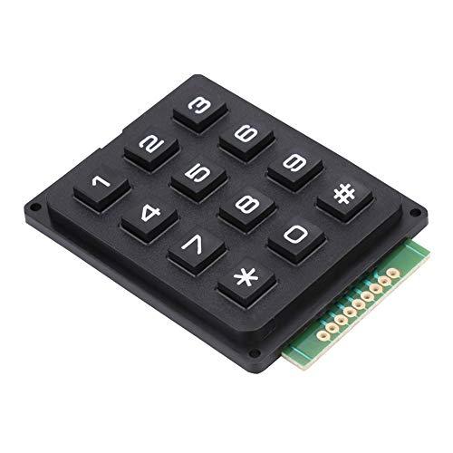 Kafuty Mini Tastaturmodule mit 12 Tasten 3x4 Drucktasten Externe Tastatur für MCU mit ABS Material Tastatur - Abs 4-steuerelemente