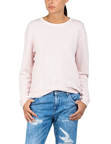 Replay W3014 .000.22514, Sudadera para Mujer, Rosa (Light Rose 709), X-Small