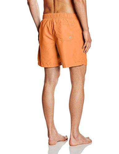 Miami Beach Swimwear Herren Badeshorts in Unifarben Orange (tropical orange 203)