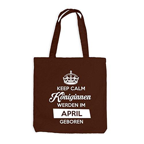 Sacchetto Di Juta - Mantenere La Calma Regine Nati Aprile - Compleanno Compleanno Cioccolato