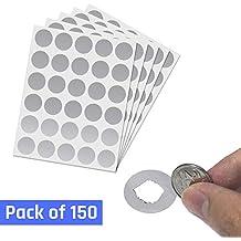 Runde Aufkleber 500 St/ück Packung Bunte Etiketten 20mm Braun Audioprint Ltd