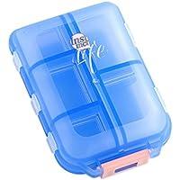 Pille-Kasten / Kasten-tragbarer Reisemedizin-Organisator für Medikation und Vitamin, großes Fach, Blau preisvergleich bei billige-tabletten.eu