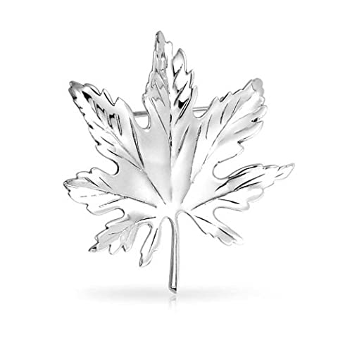 925 Sterling Silver Canada Day Maple Leaf Pin Brooch