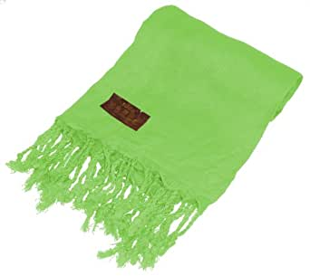 Kuldip Factory Seconds Pashmina Scarf Shawl Wrap Throw Kiwi Green