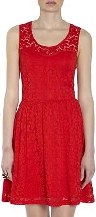 Morgan - Robe - En maille - Sans manche - Femme - Rouge (Rouge Party) - FR: 36 (Taille fabricant: XS)