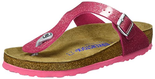 Birkenstock Classic Damen Gizeh Birko-Flor Softfootbed Zehentrenner, Pink (Magic Galaxy Bright Rose), 38 EU